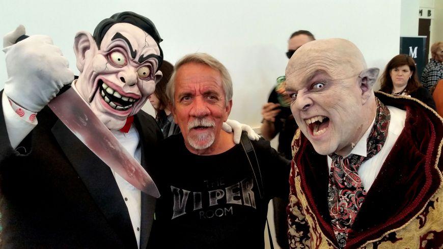 Writer Craig Hammons with new pals